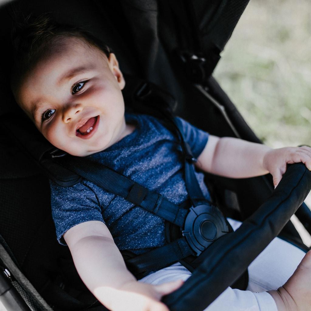 Gesslein Kinder-Buggy »Smiloo Happy +, schwarz/tabak, maroon rot«, mit Einhand-Faltmechanismus; Kinderwagen, Buggy, Sportwagen, Sportbuggy, Kinderbuggy, Sport-Kinderwagen