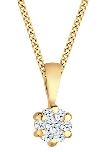 Diamore Kette mit Anhänger »Solitär, 0103220414«, mit Diamanten kaufen