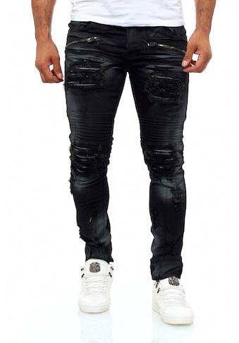 KINGZ Slim-fit-Jeans, im angesagten Destroyed-Look kaufen