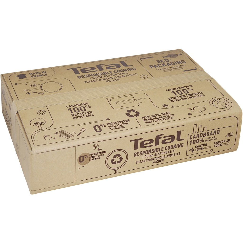 Tefal Wok »Tefal G25919 Unlimited On«, Aluminium, (1 tlg.), 28 cm, kratzfeste Titanium Antihaft-Beschichtung, Thermo-Signal, alle Herdarten (auch Induktion)