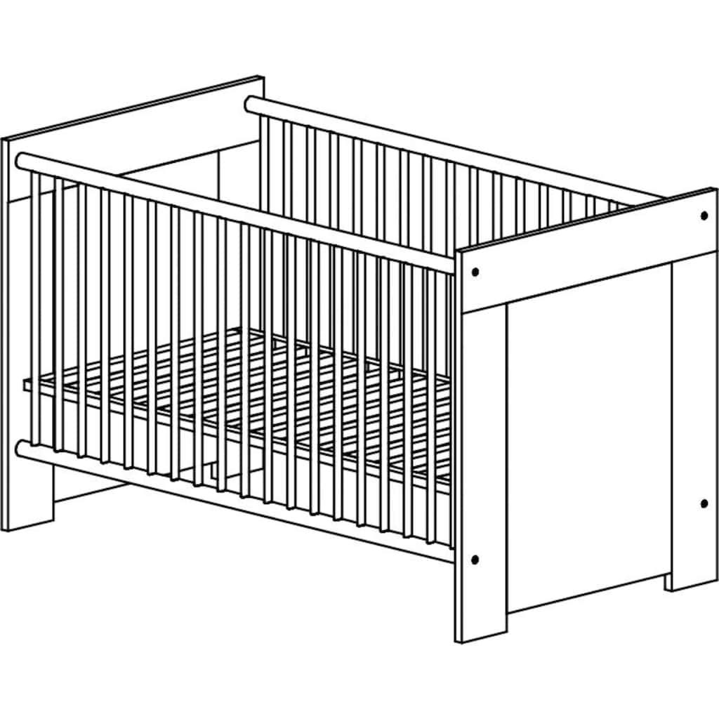 arthur berndt Babymöbel-Set »Toni«, (Spar-Set, 2 St.), mit Kinderbett und Wickelkommode; Made in Germany