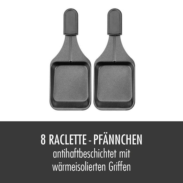 Gastroback Raclette und Fondue-Set 42567 Family and Friends, 8 Raclettepfännchen, 1200 Watt