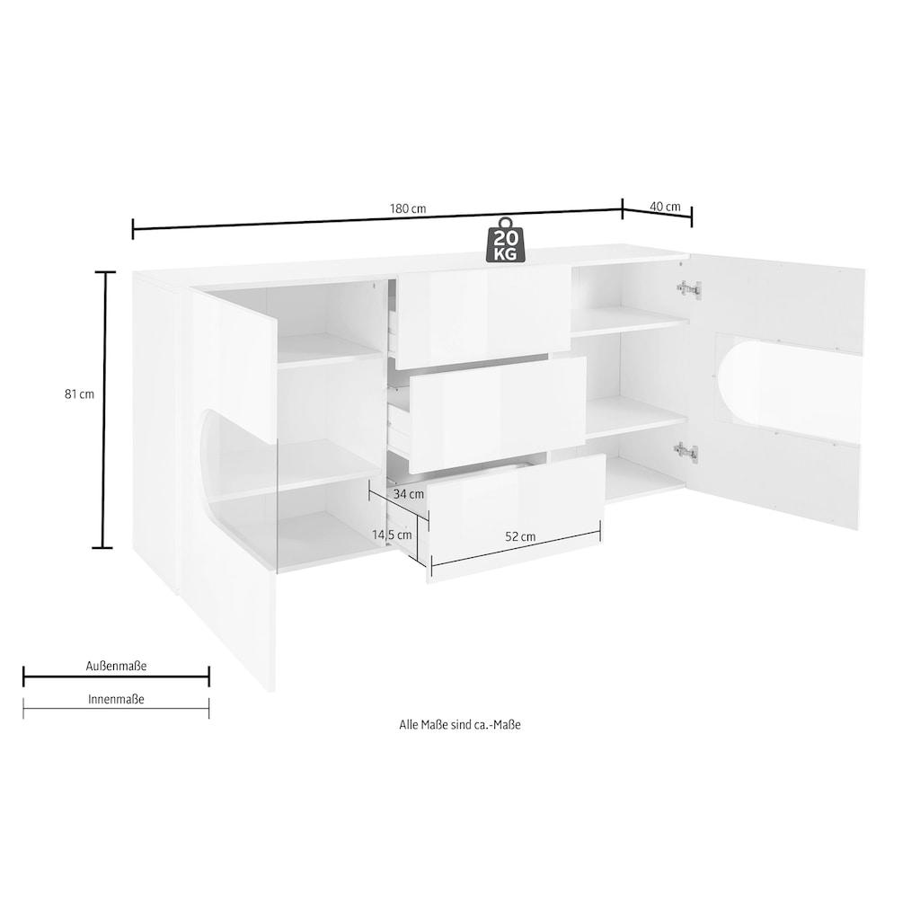 Tecnos Sideboard »Real«, Breite 180 cm