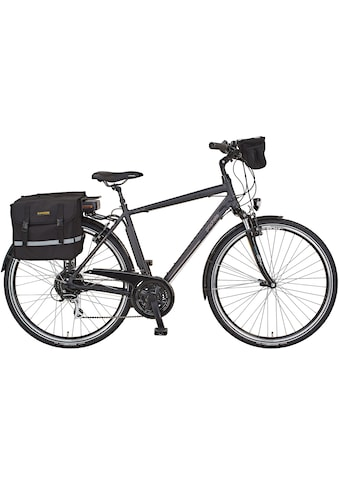 Prophete E-Bike »Entdecker e900«, 24 Gang, Shimano, Acera, Heckmotor 250 W, (Set, 3 tlg., mit Fahrradtaschen) kaufen