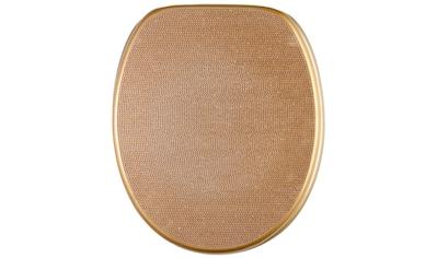 Sanilo WC-Sitz »Crystal Gold«, mit Absenkautomatik kaufen