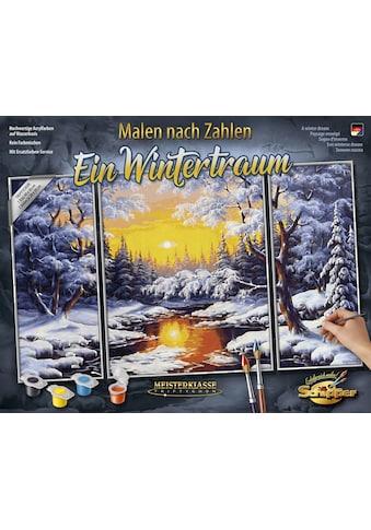 Schipper Malen nach Zahlen »Meisterklasse Triptychon, Ein Wintertraum«, Made in Germany kaufen