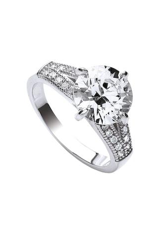Buckley London Ring rhodiniert mit Zirkonia und Kristallen kaufen