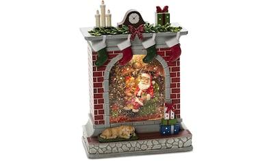 KONSTSMIDE LED Dekolicht, Warmweiß, Wasserlaterne Kamin mit Weihnachtsmann und... kaufen
