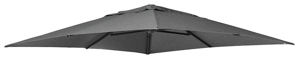 sungarden Ersatzschirmbespannung, Ø 320cm, quadratisch grau Sonnenschirme -segel Gartenmöbel Gartendeko Ersatzschirmbespannung