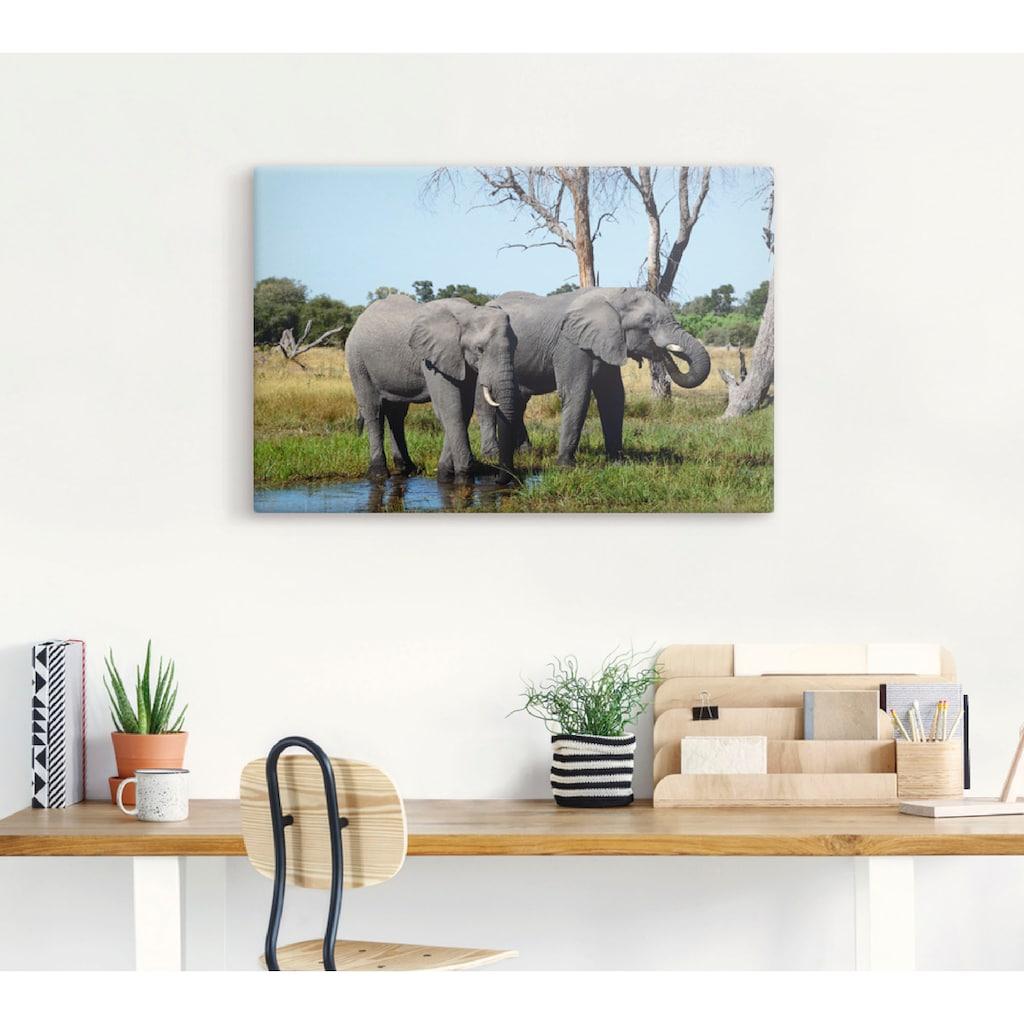Artland Wandbild »Afrikanische Elefanten«, Wildtiere, (1 St.)