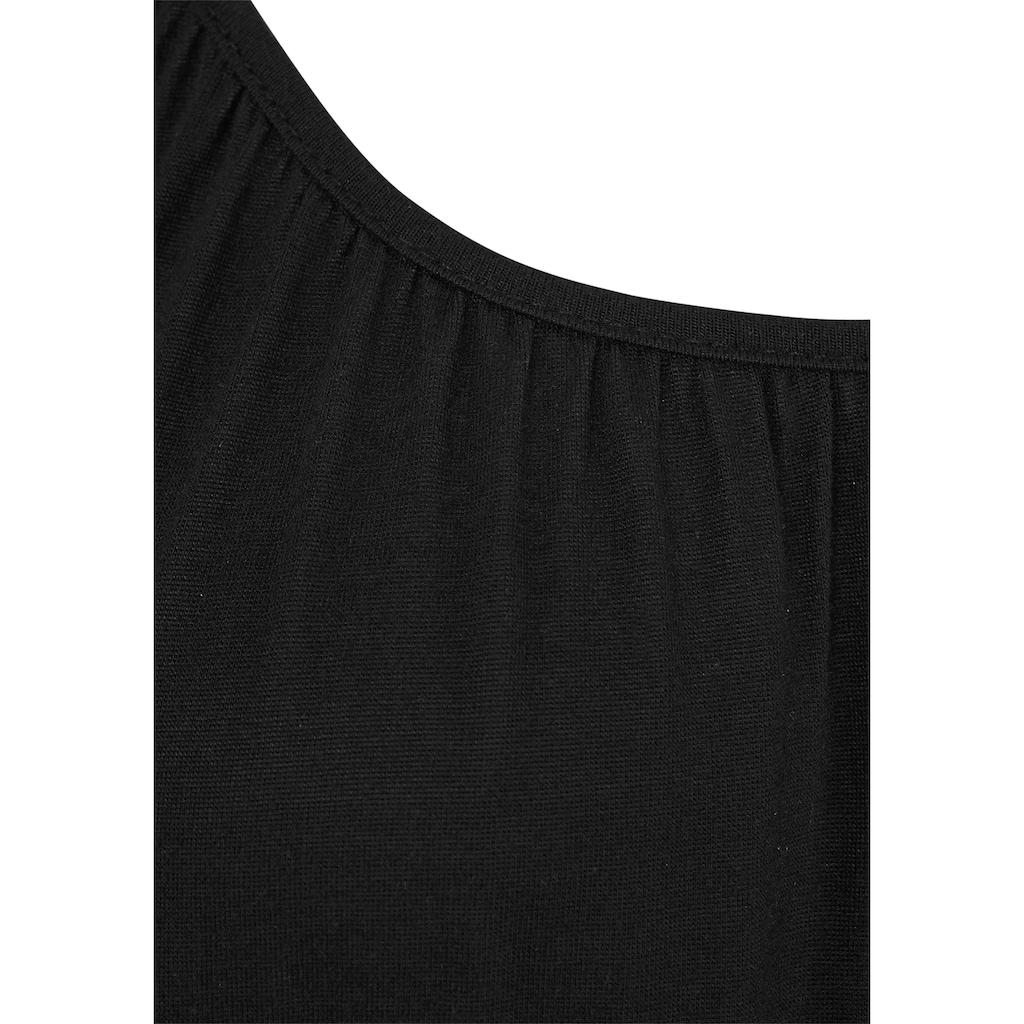 Buffalo Strandshirt, mit geflochtenen Bändern