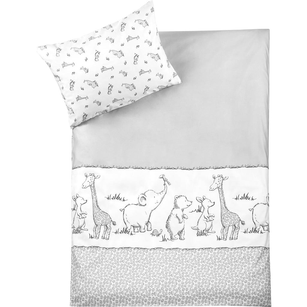Julius Zöllner Kinderbettwäsche »Safari«, mit unterschiedlichen Tieren