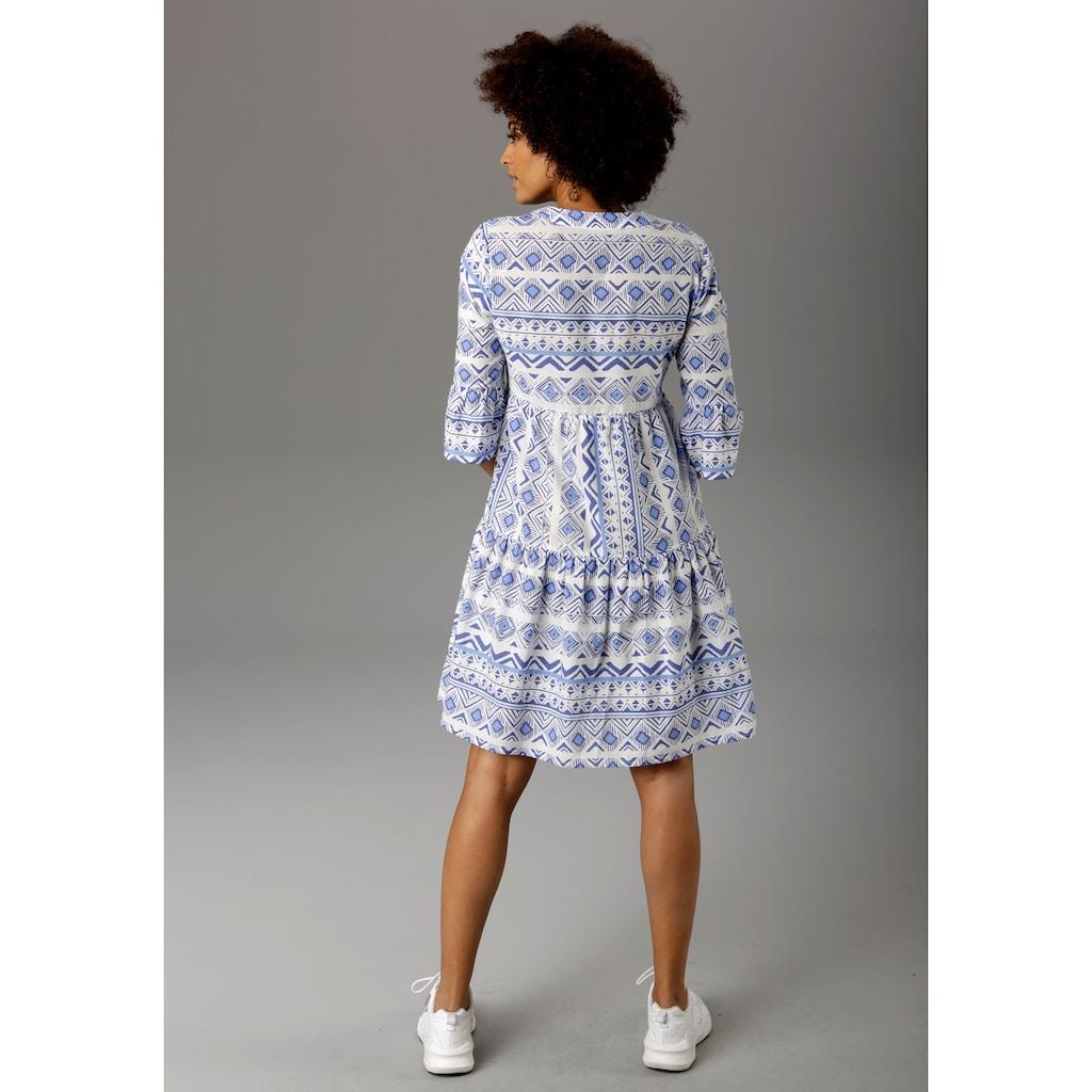 Aniston CASUAL Sommerkleid, im Folklore-Look