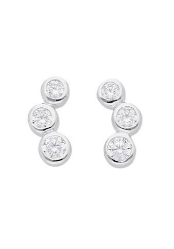 Adelia´s Paar Ohrstecker »925 Silber Ohrringe / Ohrstecker mit Zirkonia«, Silberschmuck für Damen kaufen