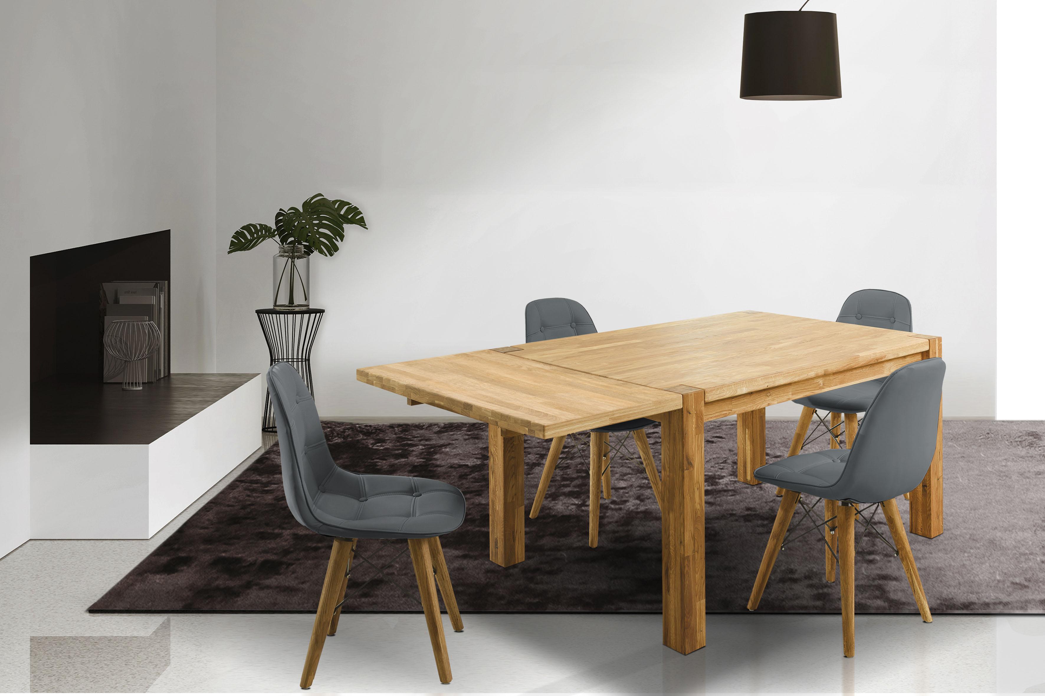 Home affaire Essgruppe Tim (Set, 5-tlg) beige Holz-Esstische Holztische Tische Sitzmöbel-Sets