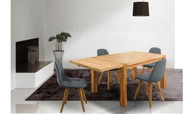 Home affaire Essgruppe »Tim«, (Set, 5 tlg.), bestehend aus 4 Stühlen und einem Esstisch, Esstischgröße 140 cm kaufen