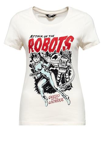 QueenKerosin T-Shirt »Attack of the Robots«, im Vintage Look kaufen