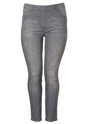 VIA APPIA DUE Bequeme Jeans mit Ziersteinchen kaufen