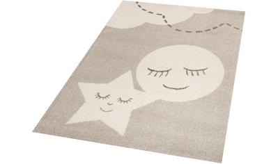 Kinderteppich, »Star and Moon«, Zala Living, rechteckig, Höhe 18 mm, maschinell gewebt kaufen