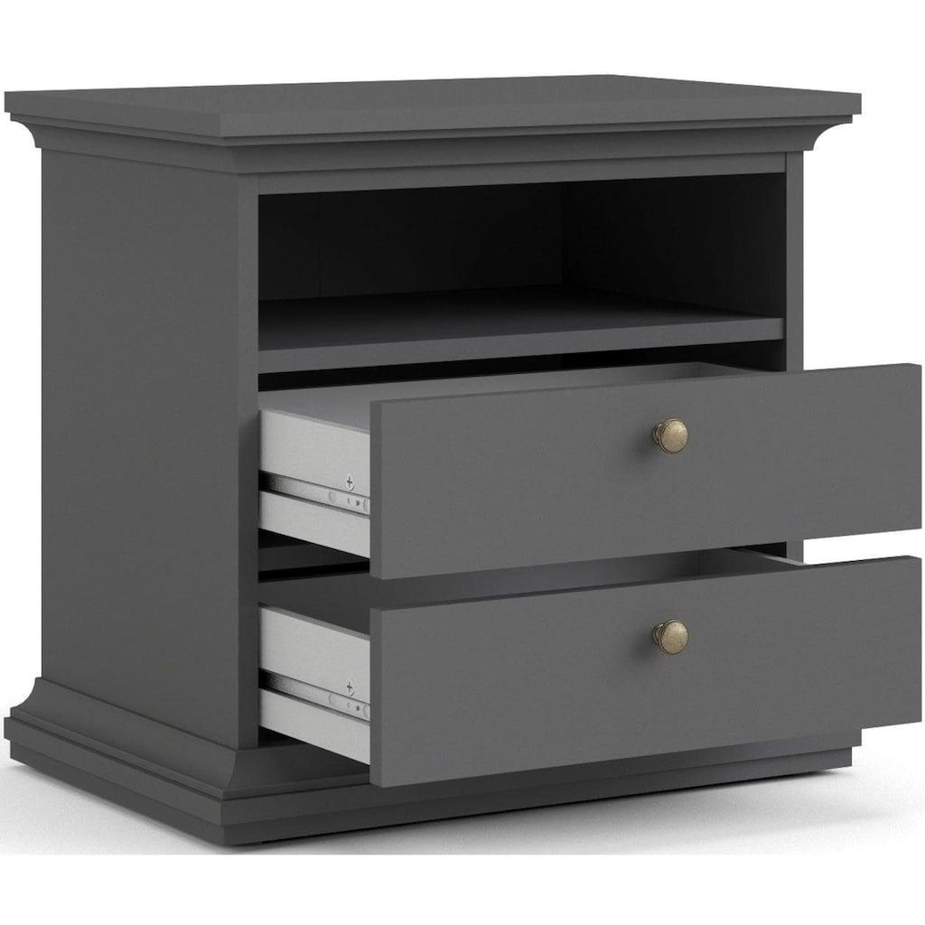 Home affaire Nachttisch »Paris«, mit 2 Schubladen und einem offenen Fach, Breite 62,6 cm