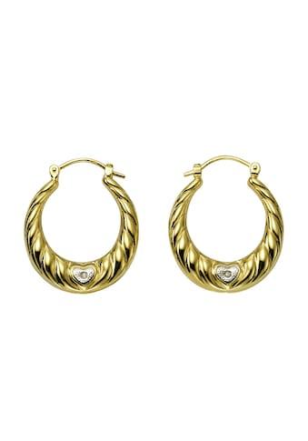 Diamonds by Ellen K. Creolen 333/ -  Gelbgold Diamanten 0,005ct. kaufen