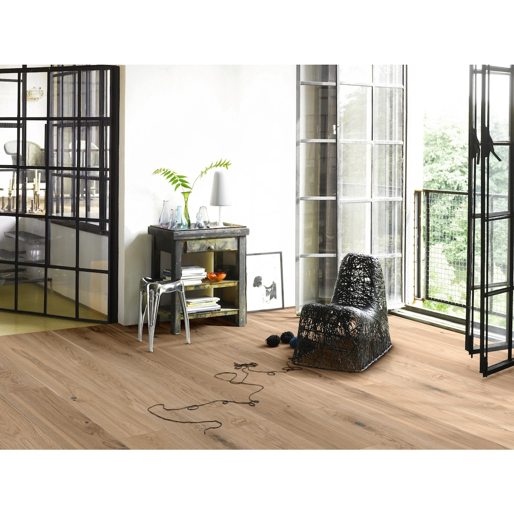 PARADOR Parkett »Classic 3060 Living - Eiche weiß«, Klicksystem, 2200 x 185 mm, Stärke: 13 mm, 3,66 m²