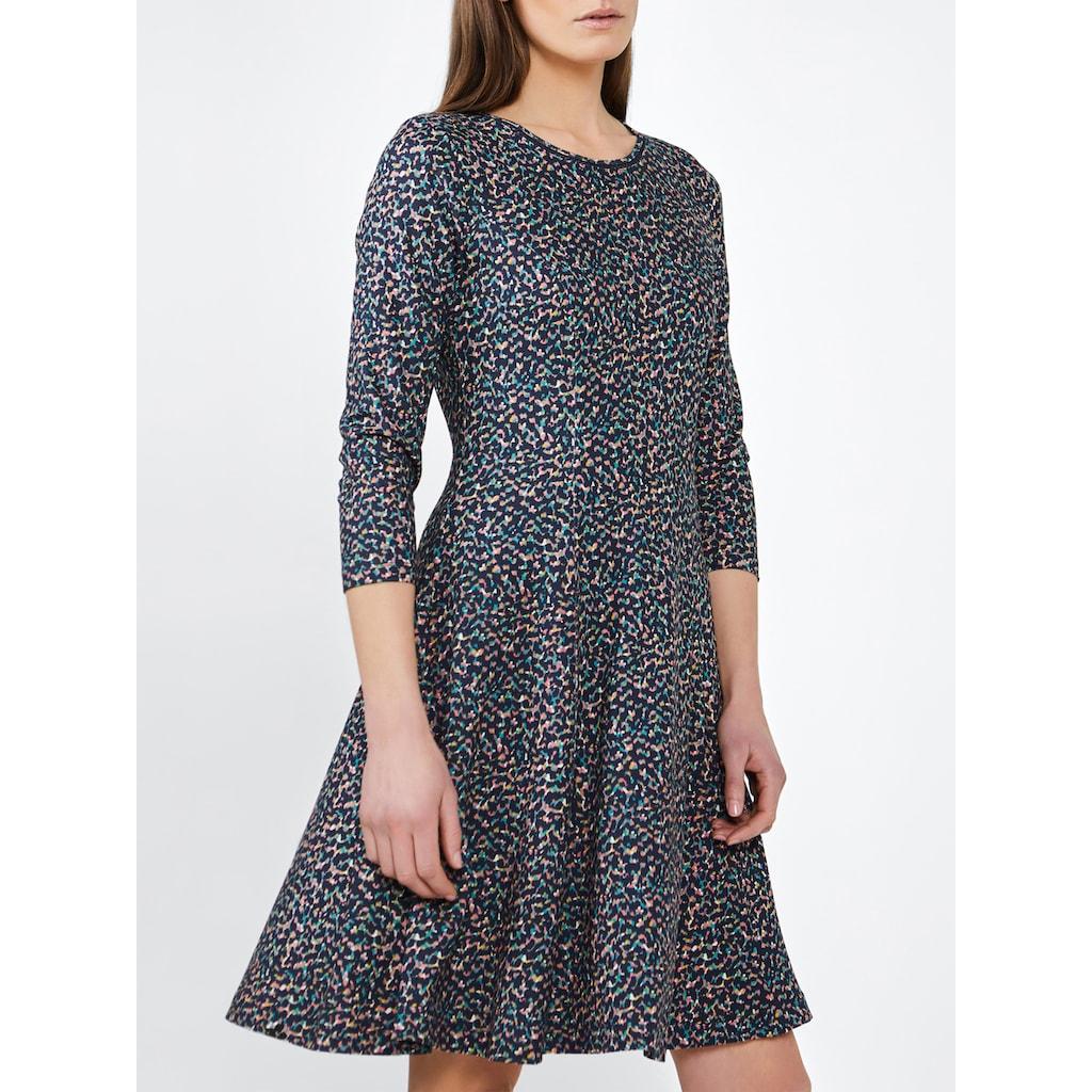 Sandwich A-Linien-Kleid, mit langen Ärmeln