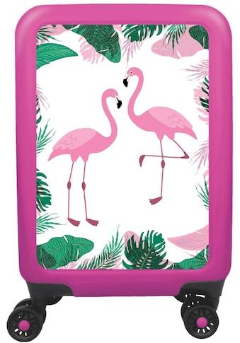 """meinTrolley Hartschalen - Trolley """"Flamingo"""", 4 Rollen kaufen"""
