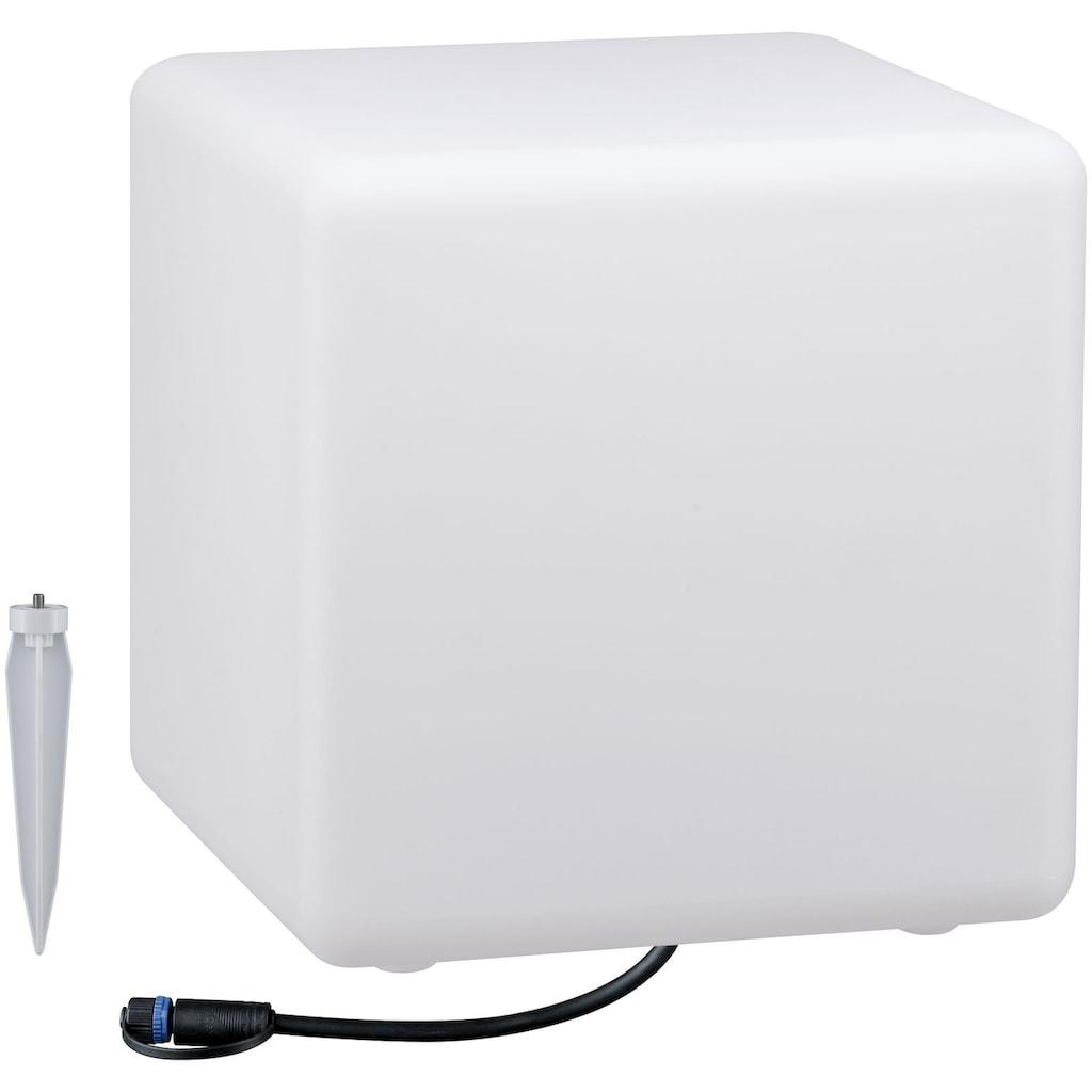 Paulmann LED Würfel »Outdoor Plug & Shine Lichtobjekt Cube«, 1 St., Warmweiß, IP67 3000K 24V