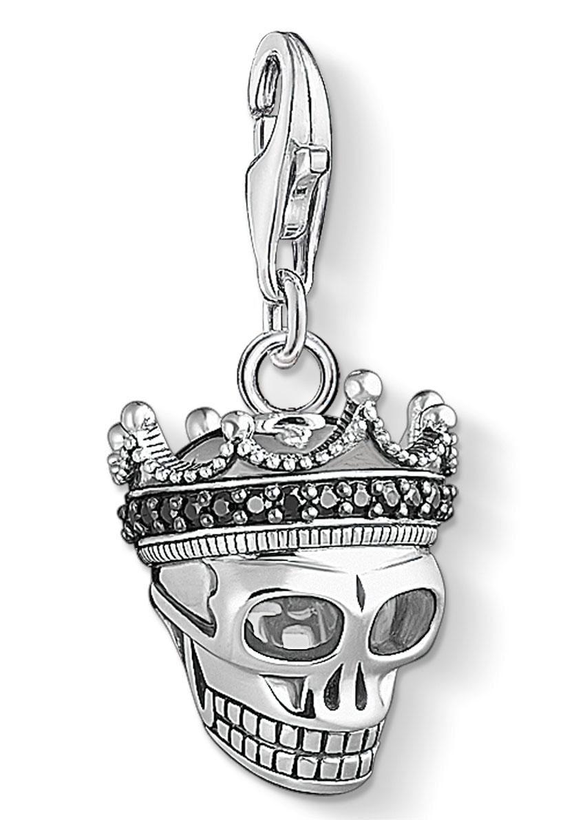 THOMAS SABO Charm-Einhänger  Totenkopf König, 1554-643-11  Preisvergleich
