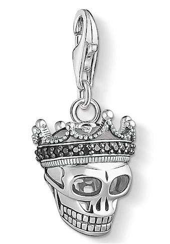 THOMAS SABO Charm-Einhänger »Totenkopf König, 1554-643-11«, mit Zirkonia kaufen