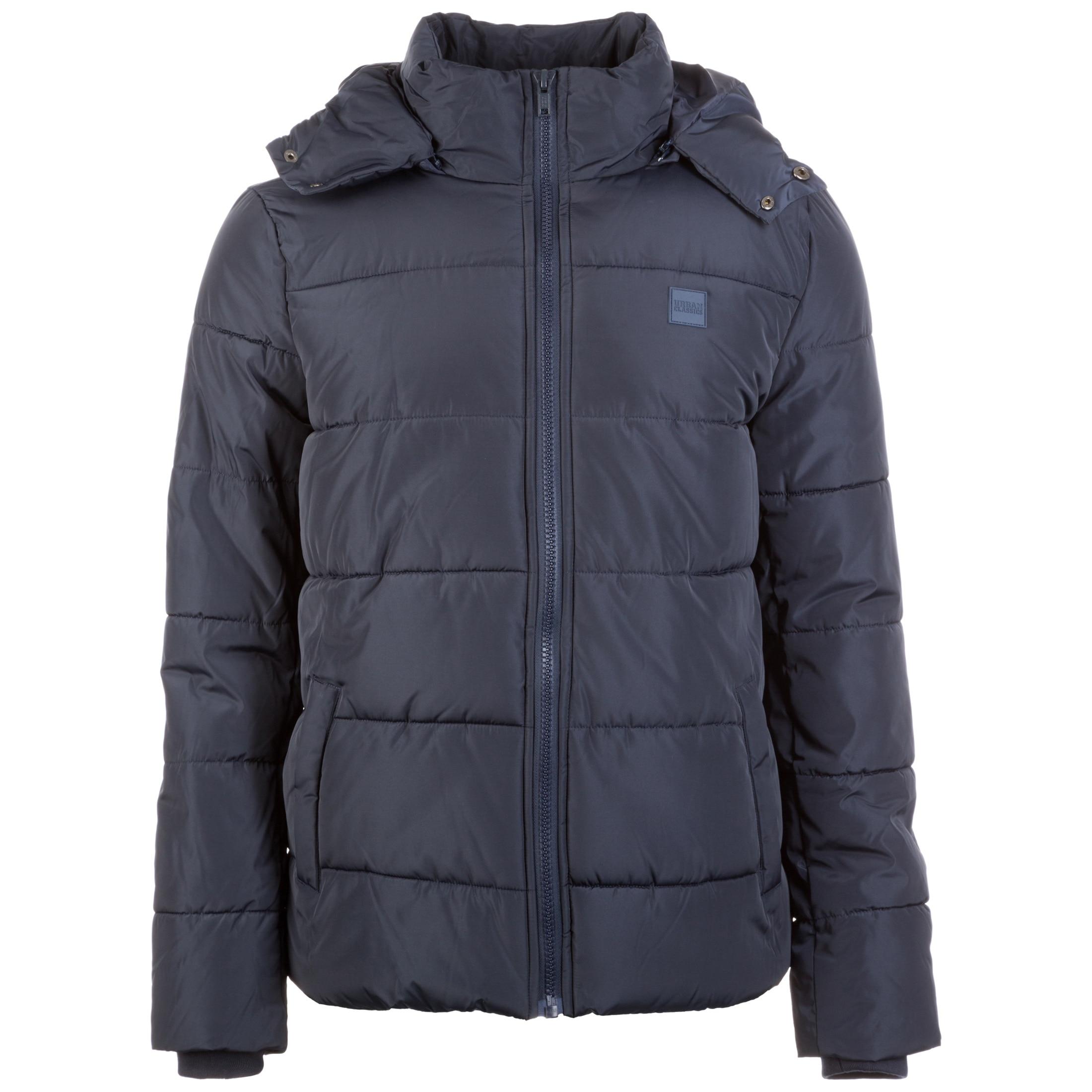 URBAN CLASSICS Winterjacke Hooded Puffer blau Herren Übergangsjacken