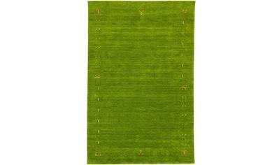 morgenland Wollteppich »Gabbeh Teppich handgewebt grün«, rechteckig, 8 mm Höhe, Kurzflor kaufen