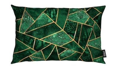 Juniqe Dekokissen »Deep Emerald«, Weiches, allergikerfreundliches Material kaufen