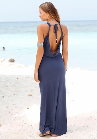 s.Oliver Beachwear Maxikleid, mit tiefem Rückenausschnitt kaufen