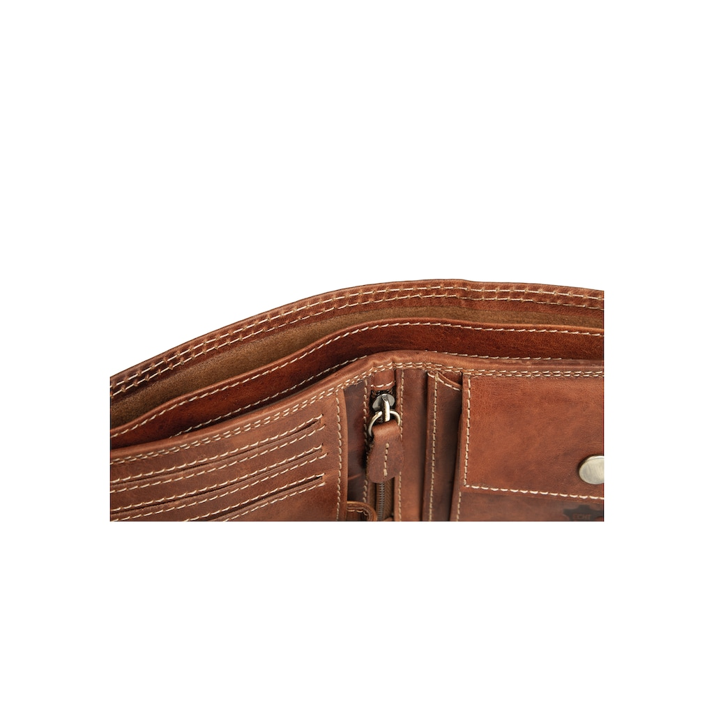 Der Trachtler Lederbörse mit Edelweiß-Motiv