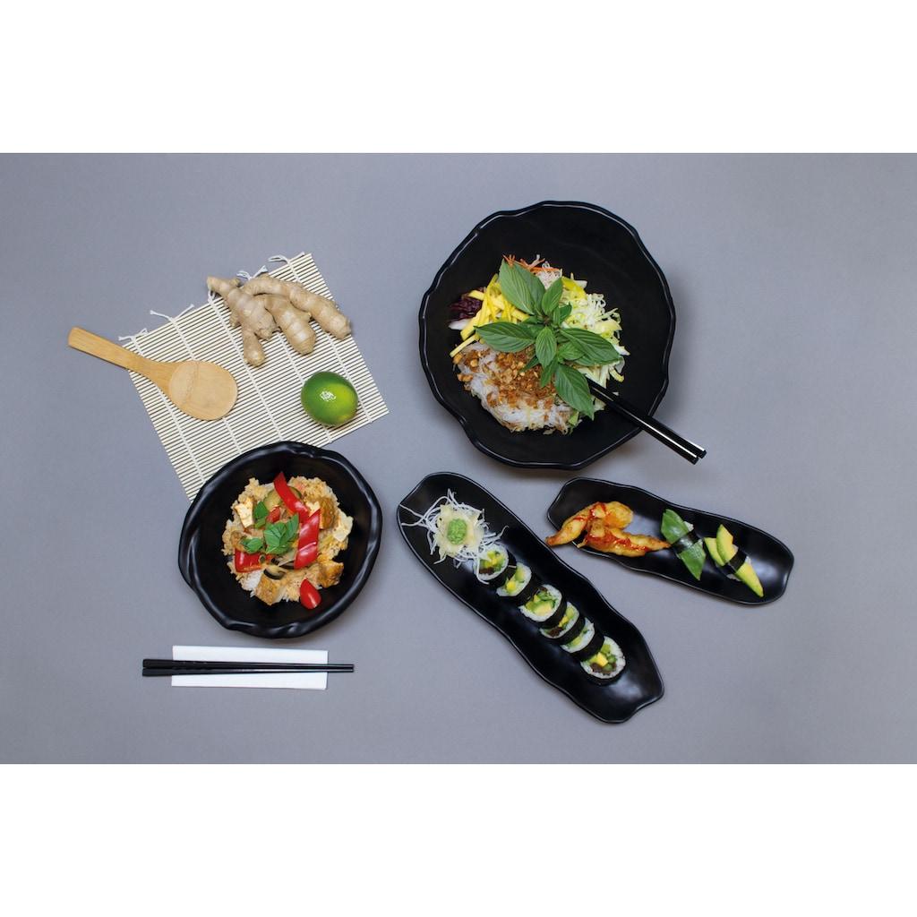 Q Squared NYC Servierplatte »Melamin Sushiplatte«, (Set, 2 tlg., 2 x Sushiplatte), für Sushi
