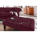 Premium collection by Home affaire Hocker »Chesterfield«, mit Knopfheftung, auch in Leder