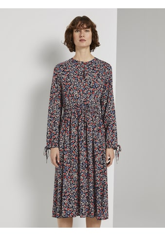 TOM TAILOR Sommerkleid »Verspieltes Midikleid mit Blumen - Print« kaufen