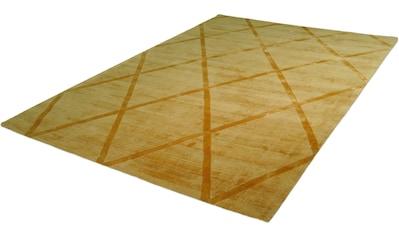 calo-deluxe Teppich »Viteox 210«, rechteckig, 13 mm Höhe, Viskose, Kurzflor, Wohnzimmer kaufen
