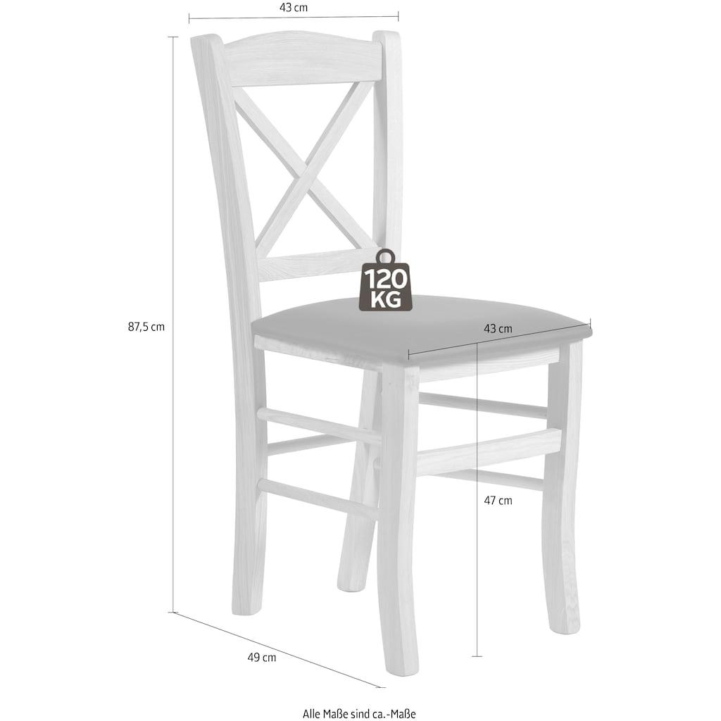 Home affaire Esszimmerstuhl »Clayton«, mit Gestell aus Massivholz