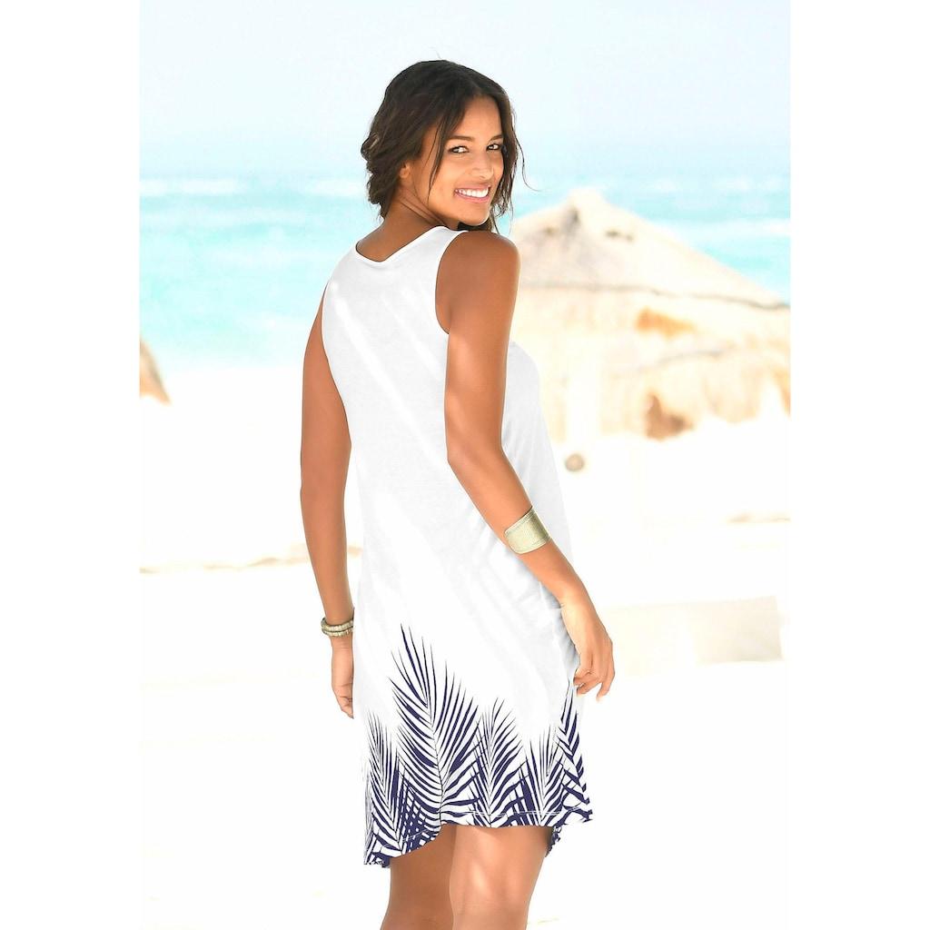 Beachtime Strandkleid, mit Blätterprint