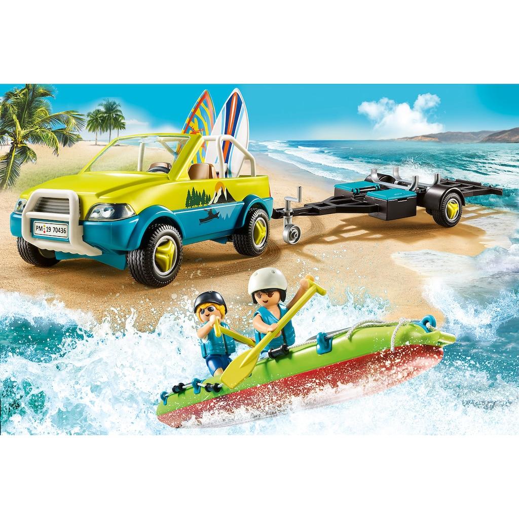 Playmobil® Konstruktions-Spielset »Strandauto mit Kanuanhänger (70436), Family Fun«, ; Made in Germany
