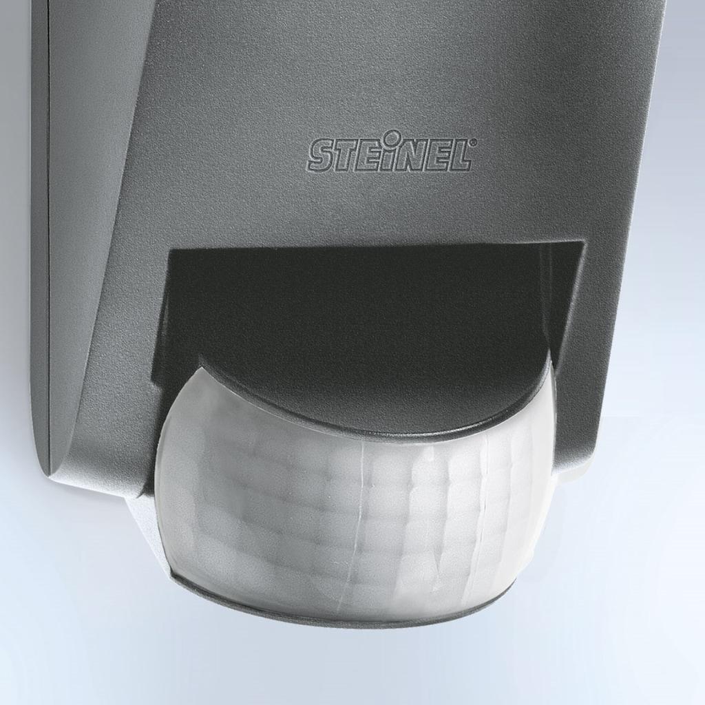 steinel Außen-Wandleuchte »L 585 S«, E27, 1 St., 180° Bewegungsmelder, mundgeblasenes Kristallglas, Zeit- und Dämmerungsschwelle einstellbar