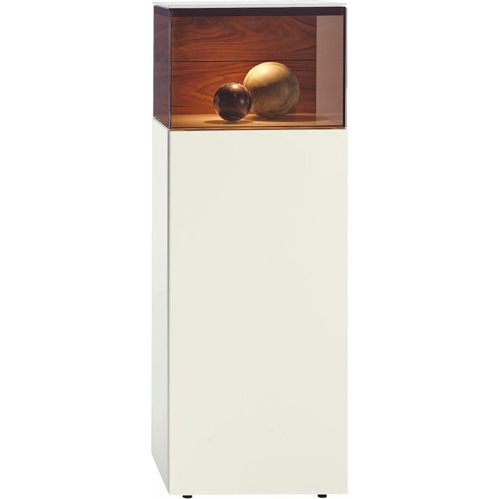 hülsta Vitrine »GENTIS«, Höhe 143,5 cm, inklusive LED Beleuchtung, inklusive Liefer- und Montageservice durch hülsta Monteure