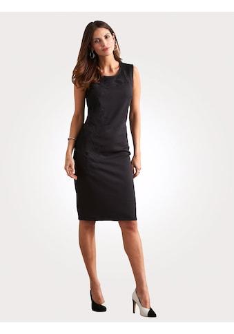 Mona Jerseykleid mit Stickerei und Netzbesätzen kaufen