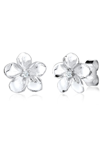 Diamore Paar Ohrstecker »Frangipani Blüte Diamant Blume Blüte 925 Silber« kaufen