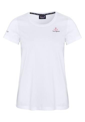 NAVIGATOR T-Shirt »Women T-Shirt mit Rundhals Ausschnitt, GOTS«, Logo auf der Brust kaufen