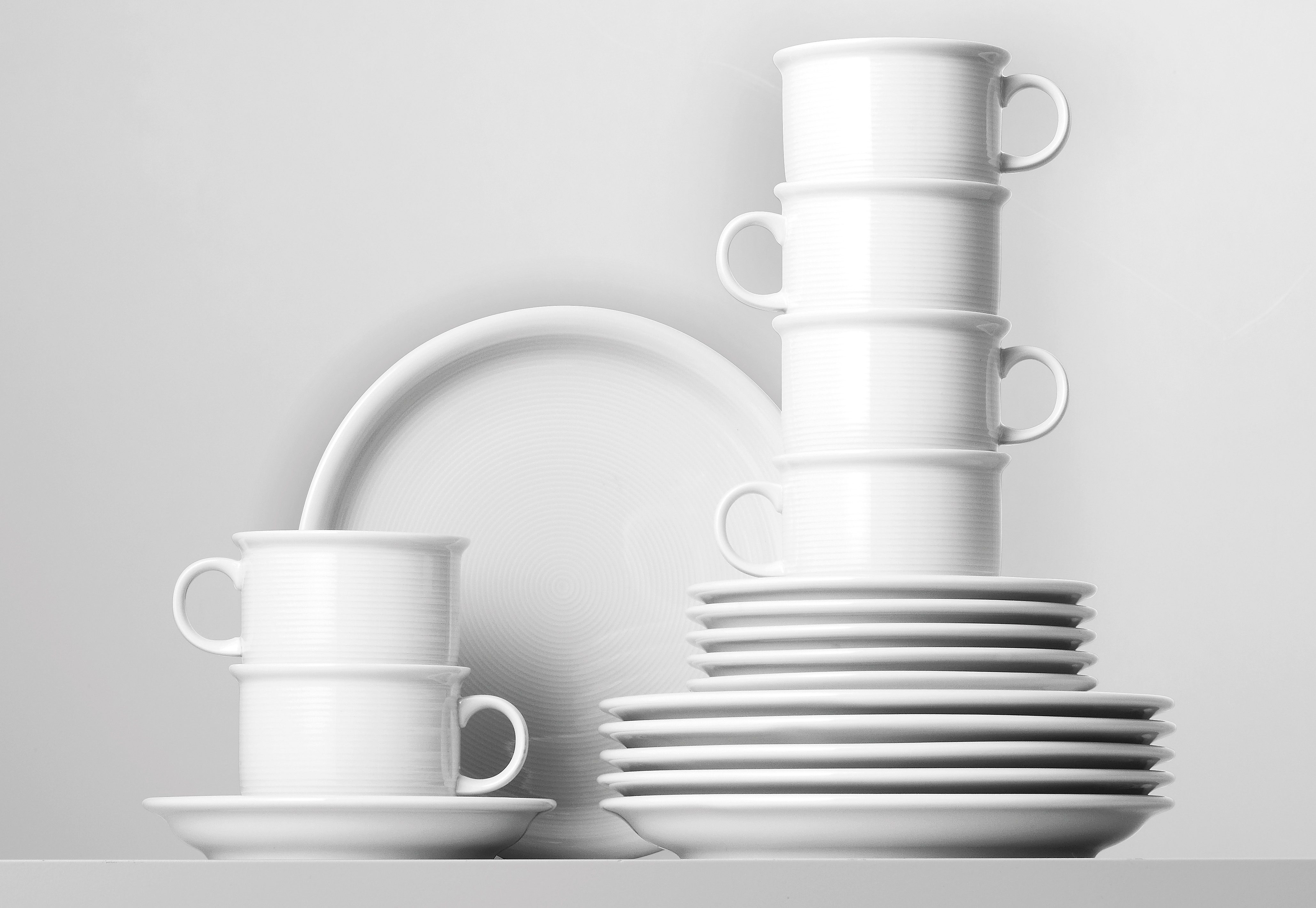 Thomas Porzellan Kaffeeservice Trend, (Set, 18 tlg.), Mikrowellengeeignet weiß Geschirr-Sets Geschirr, Tischaccessoires Haushaltswaren