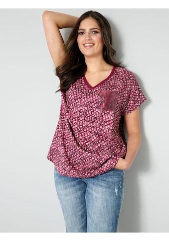 Janet & Joyce Shirtbluse, mit Brusttasche aus Pailletten kaufen